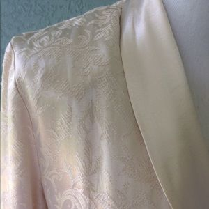 Dresses & Skirts - DEAL Ivory Satin Dress with a Paisley Satin Jacket